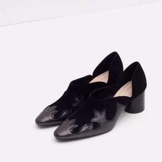 Zara COWBOY HEELED SHOES