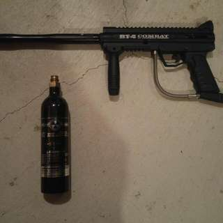 BT-4 Combat Paintball Marker With Barrel and CO2