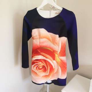 Luvalot Long Sleeve Rose Dress