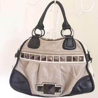 Marciano Grey/black Leather Bag