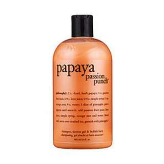 Philosophy Shampoo, Shower Gel & Bubble Bath, Papaya Passion Punch, 16 Ounces