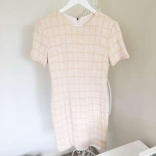 Peach Coloured Vintage Dress