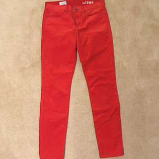 Gap Red Corduroy Pants