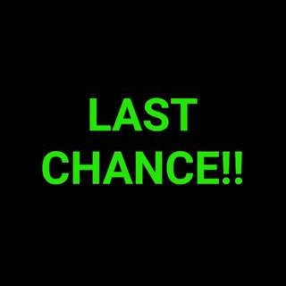 Last Chance To Grab A Bargain