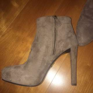 Prada Suede Ankle Boots - Size 7.5