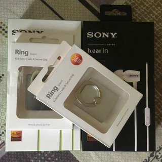 Phone Ring Stents and Sony Earphones