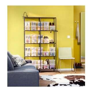 Ikea shelves unit (black & glass)