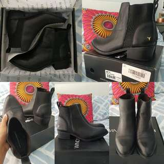 Windsor Smith 'Metz' Black Leather Boots