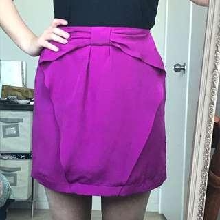 Bright Magenta High Waisted Mini Skirt