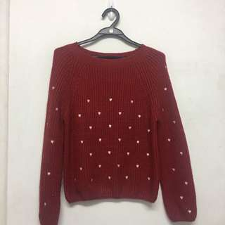 Red Colour Knitted TOP