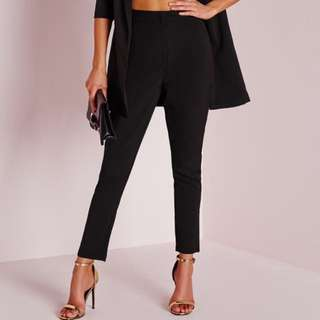Tailored High Waisted Cigarette Pants