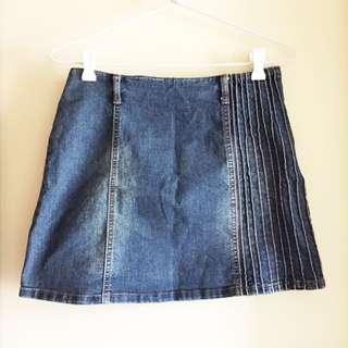 Denim Mini Skirt / S-M