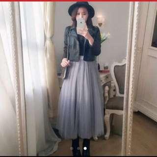 重磅灰色紗裙