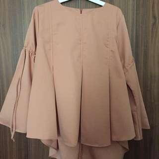 Flare Sleeve Top (peach)