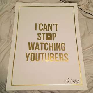 Autographed Tyler Oakley Poster