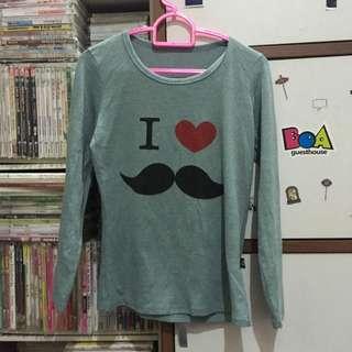 I Love Mustache Sesign