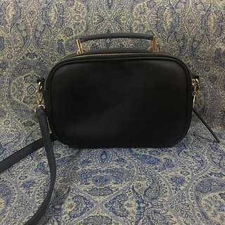 PALOMINO Black Satchel Bag