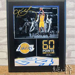 "☆Pure Collection☆ NBA Kobe Bryant ""The Final Game"" 最終賽複刻簽名裝置藝術"