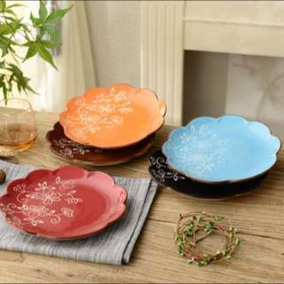 Floral handpainted plates