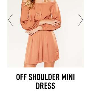 Off The Shoulder Silk Dress