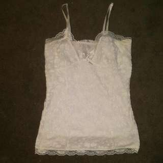 Cute White Lace Singlet Top Size 8 - BNWOT