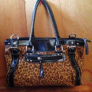 WORTHINGTON Animal Print Shoulder Bag