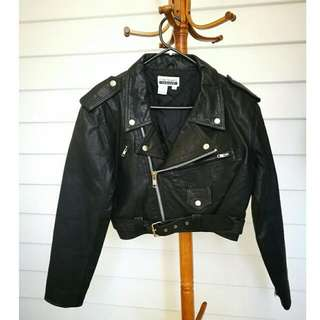 PRICE DROP!! Genuine Vintage Black Leather Biker Jacket 1960's style PRICE DROP!!