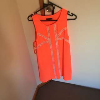 83 High Street Fluro Orange Dress