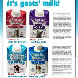 4 FOR $10! Toplife Milk For Cats, Kittens, Dogs & Puppies
