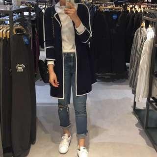 藍白 長外套