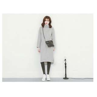 MIT‧初冬必備內刷毛純色高領洋裝