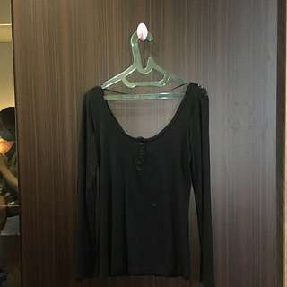 BERSKHA Black Back Lace Shirt