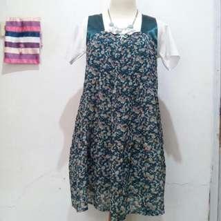 Earth Music & Ecology Flowert Green Dress