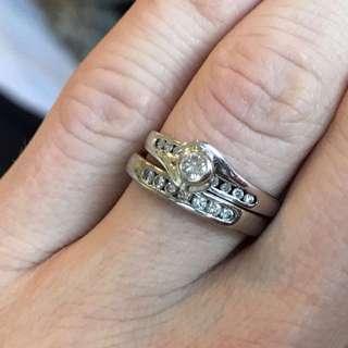 White Gold Engagement Wedding Rings