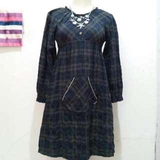 Piancheri Kawaii Tartan Dress
