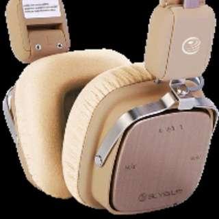 Elysium Libretto WIRELESS Hi-Fi Quality BLUETOOTH V3.0+EDR Stereo Headset (Beige)