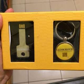 🚚 便宜賣求帶走 格蘭傑 小禮盒 鑰匙圈+Usb組