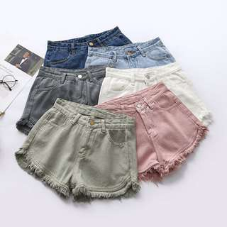 [PO] frayed high waist shorts