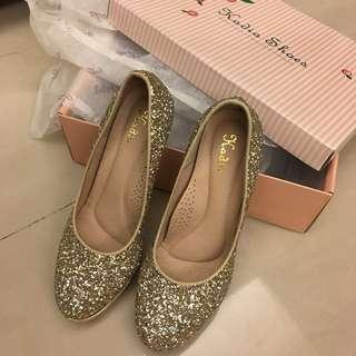 Kadia 金色閃亮氣勢超強高跟鞋*婚鞋超合適