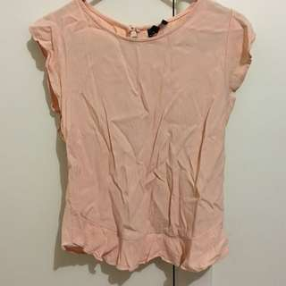 Bardot Peach Top