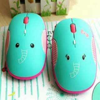 MOUSE WIRELESS USB LUCU UNI GAJAH MOUTON TANPA KABEL