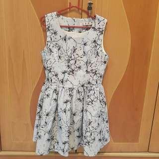 Floral Dress Grey / Party Dress