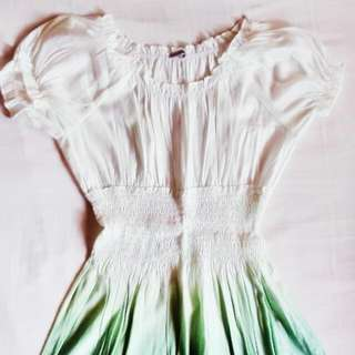 Green Ombre Blouse/Dress
