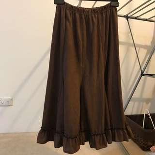 Bohemian Long Skirt Brown