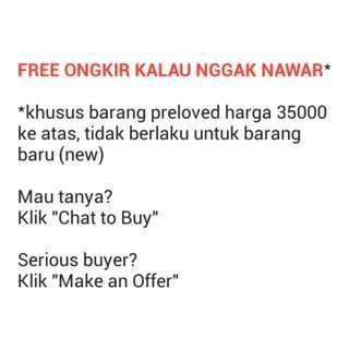 Free Ongkir Kalau Nggak Nawar