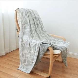 北欧 純棉雙面毯 野餐墊 沙發墊 露營地墊