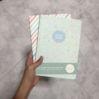"kikki k ""celebrate today"" a5 lined notebooks"