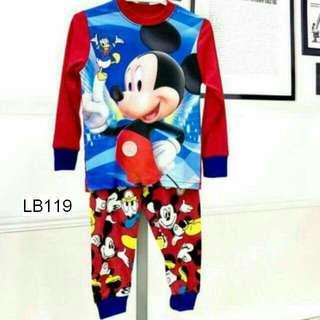 (Nett Price) Mickey Mouse Red Sleepwear