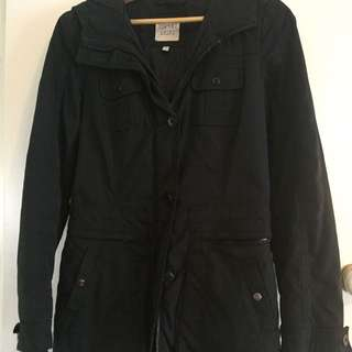 Esprit Waterproof Winter Jacket Black Size 8