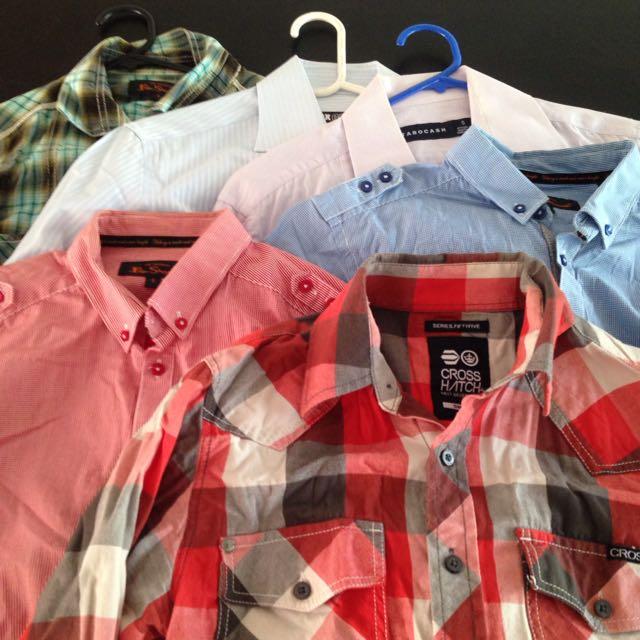 6x Men's Shirts - Smalls